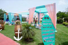 Three Day Luxury Wedding in India Desi Wedding Decor, Wedding Stage Design, Diy Wedding Backdrop, Wedding Entrance, Pool Party Decorations, Outdoor Wedding Decorations, Stage Decorations, Wedding Receptions, Reception Stage Decor