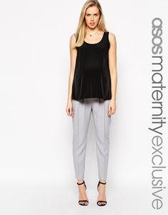 ASOS Maternity Peg Trouser In Linen #maternity #style #pregnancy