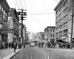 Water Street, looking west from Abbott, Source: Photo by Richard Broadbridge, City of Vancouver Archives Past Life, Vancouver, Street View, History, City, Water, Vintage, Gripe Water, Historia