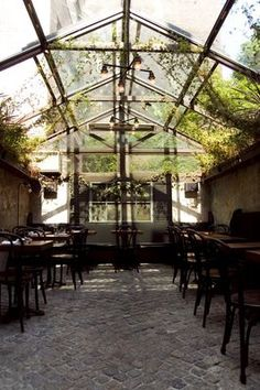 August - New American/French in the West Village. Look at this back garden. I'm going.