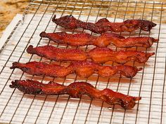 Candied Bacon from our post on making Nigella Lawson's Chocolate Bacon Brownies