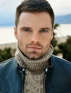 Sebastian Stan for August Man (April 2018)/// HOW THE HECK CAN HE MAKE A TURTLENECK SEXY