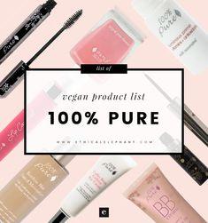 100% Pure Vegan Product List (2017)