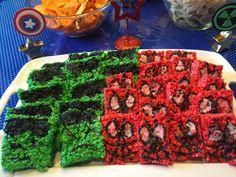 Hulk & Spiderman Rice Crispy Treats