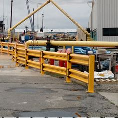 Specced in, measured and provided these yellow safety rails at a Power Plant.