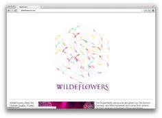 Created Interactive Animation of Top Logo > www.WildeFlowers.com