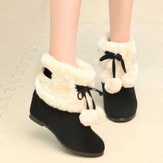 GET $50 NOW   Join RoseGal: Get YOUR $50 NOW!http://www.rosegal.com/boots/fuzzy-pompon-hidden-wedge-short-868936.html?seid=2275071rg868936