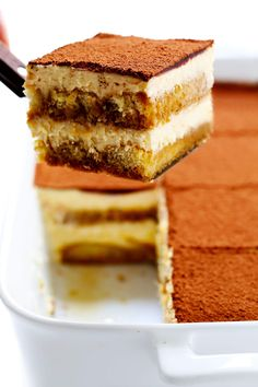 This tiramisu recipe is easy to whip up, this version is made with cooked (instead of raw) eggs, and it tastes just as indulgent and delicious as ever. The perfect make-ahead dessert for Italian night! | gimmesomeoven.com #tiramisu #italian #dessert #mascarpone #nobake #chocolate #vegetarian How To Make Tiramisu, Homemade Tiramisu, Tiramisu Recipe, Italian Tiramisu, Italian Desserts, Italian Recipes, Mousse, Make Ahead Desserts, Gimme Some Oven