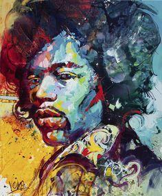 Jimi Hendrix,220x180cm/ 86,6x70,9 inch, acrylic on canvas
