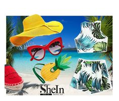 """SHEin"" by fashionshelter ❤ liked on Polyvore featuring Iris & Ink, Dolce&Gabbana, Betsey Johnson and beach"