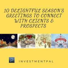 The holiday season is an important time to connect with clients & prospects, say thank you & to spread that holiday cheer. Here're 10 delightful seasons greetings, both visual and video, f… Social Media Marketing, Helpful Hints, Connection, Finance, Seasons, Useful Tips, Handy Tips, Seasons Of The Year, Economics