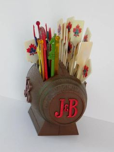 Vintage J&B Beer Keg Swizzle Holder Made in New by jonscreations  #craftshout