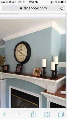 Soft Paint Colors for Living Room soft Chinchilla Downstairs Bathroom Dining Room Paint Colors, Kitchen Wall Colors, Paint Colors For Home, Living Room Paint, Living Roon, Living Room Modern, Blue Gray Paint Colors, Paint Colours, Chinchilla