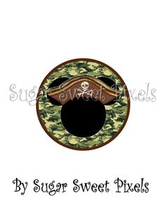 INSTANT DOWNLOAD Green  Camo  pirate   Mouse by sugarnspicebow