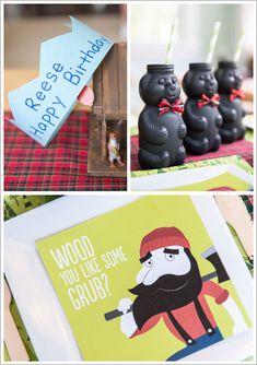 Lumberjack Birthday Party | TheCakeBlog.com