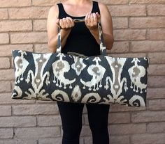 Yoga or Pilates Tote Gym Bag IKAT by ChellaBellaDesigns, $45.00
