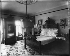 """Mrs. Joseph Masson's bedroom, Montreal, QC, 1898"""