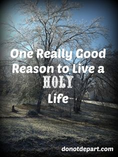 One Really Good Reason to Live a Holy Life via @donotdepart