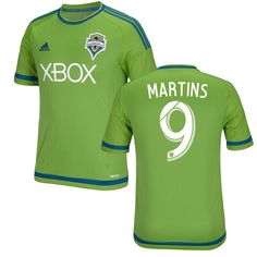 Obafemi Martins Seattle Sounders FC adidas 2015 Primary Replica Jersey - Rave Green - $86.99
