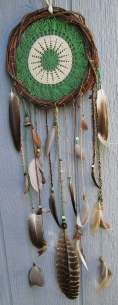 Dream catcher doilie....Tapete crochet dreamcatcher grande....