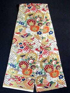 maru obi   This is a stunning vintage maru obi from pre WWII. ...   Japan: Cloth ...