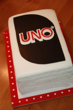 Uno Cake... Maybe Sweet Elizabeth's can make something like this happen for us!