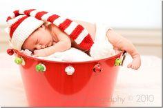 newborn photo prop HOHOHO cute Christmas hat with by fairyshred
