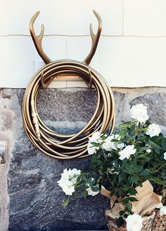 Antler hose rack/ by Garden Glory