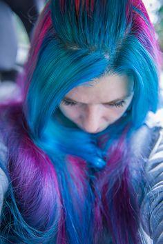 Manic Panic Purple & Blue Dyed Hair