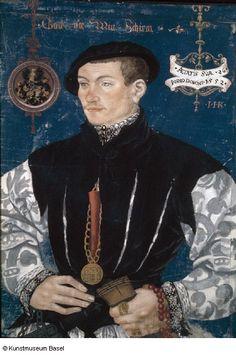 Portrait of Hans Rispach (1552) by the Painter Hans Hug Kluber of Basel,  1535/36–1578