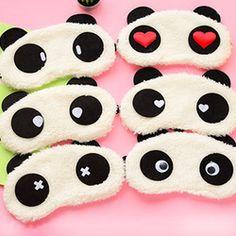 Панда спальные маска для глаз сон для глаз-тени мультфильм с завязанными глазами сна глаза обложка спящая путешествия отдых патч блиндер
