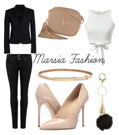 """so chic"" by marsia-fashion on Polyvore featuring Paige Denim, Charlotte Russe, Canvas by Lands' End, Yves Saint Laurent, Massimo Matteo and W.Kleinberg"