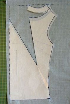 Draft a deep cowl neck top starting with a darted pattern