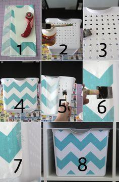 get organized with easy DIY fabric covered storagebins - itsalwaysautumn - it's always autumn