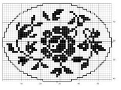 Oval 64 | Free chart for cross-stitch, filet crochet | Chart for pattern - Gráfico