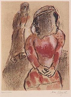 Tamar, beautiful daughter of Judah - Marc Chagall