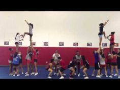 easy way to see the hand positioning on the twist over portion of the stunt but thats about all i like from this. # Cheer pyramids Cheer Pyramid to all I do is win Cheerleading Tattoos, Cheerleading Videos, Football Cheerleading, Cheerleading Cheers, Easy Cheer Stunts, Cheer Jumps, Cheer Pyramids, Cheerleading Pyramids, College Cheer