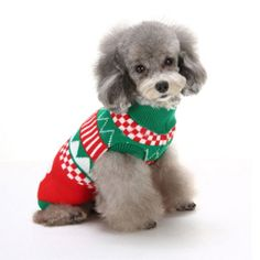 Brloote Pet Holiday Festive Casual Fair Isle Dog Sweater -- To view further, visit now