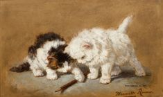 Henriëtte Ronner-Knip (Holanda/Alemania, 1821-1909). Cats with a pencil