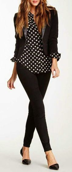 Love the polka dots mixed with black
