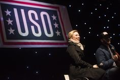 https://flic.kr/p/PLzv7T | 161205-D-PB383-091 | Scarlett Johansson and Chris Evans perform for service members during the USO Holiday Tour at Incirlik Air Base, Dec. 5, 2016. Marine Gen. Joseph F. Dunford, Jr., chairman of the Joint Chiefs of Staff, and USO entertainers, will visit service members who are deployed from home during the holidays at various locations across the globe. This year's entertainers included actor Chris Evans, actress Scarlett Johansson, NBA Legend Ray Allen, 4-time…