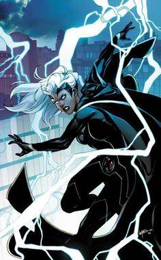 Uncanny X-Men variant cover - Storm by Emanuela Lupacchino * Storm Comic, Storm Xmen, Storm Marvel, Marvel Comics, Marvel Comic Universe, Marvel Art, Cosmic Comics, Comic Book Covers, Comic Books Art