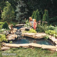 add the magic of moving water to your backyard, with a waterfall and pond. our instructions show you how to build them using preformed shells for simplicity.