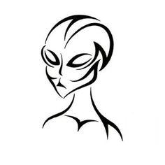 891d38b7ac74c Tribal alien Head Tattoos, Tribal Tattoos, Alien Tattoo, Large Tattoos, Tattoo  Outline