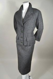 BALENCIAGA NUMBERED TWO PIECE WOOL SUIT