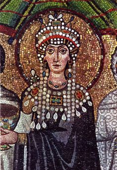 Empress Theodora of Byzantium: From courtesan to empress. Was one of the most influential and powerful women in the Early Middle Ages. She was the wife of Emperor Justinian I and joint ruler of the Byzantine Empire. Ancient Rome, Ancient Art, Women In History, Art History, Byzantine Art, Byzantine Mosaics, Early Middle Ages, Kaiser, Medieval Art