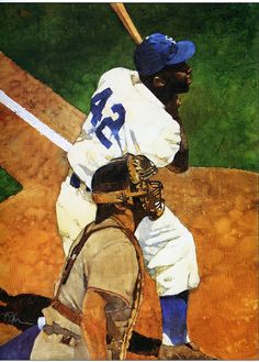 Jackie Robinson, by Bart Forbes.