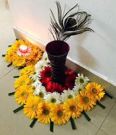 Awesome Flower decoration for Diwali The post Flower decoration for Diwali… appeared first on Feste Home Decor . Flower decoration for Diwali Rangoli Designs Flower, Colorful Rangoli Designs, Rangoli Designs Diwali, Diwali Rangoli, Flower Rangoli, Beautiful Rangoli Designs, Diwali Flowers, Diwali Decoration Lights, Thali Decoration Ideas