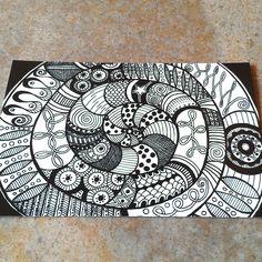 Spiral zentangle photo print 4 x 6 art print