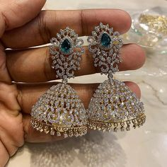 Elusive Diamond Royalty that are a vision to behold always with its regal charm and classy mystique for all your special moments along with PSATYANARAYAN . Diamond Earrings Indian, Gold Jhumka Earrings, Diamond Necklace Set, Diamond Jewelry, Silver Jewelry, Silver Ring, Gold Jewellery, Latest Jewellery, Silver Necklaces